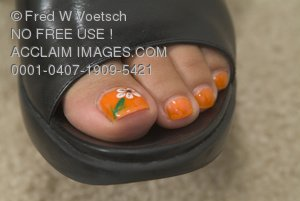 Stock Photo of Pedicured Toes
