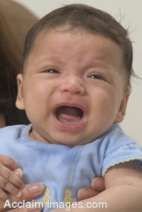 Stock Photo of a Fussing Baby