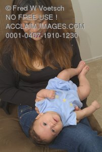 Clip Art Stock Photo of a Happy Mother With Her Child