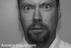 Stock Photo of a Man in Shock