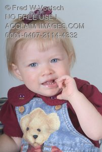 Stock Photo of a Blonde Baby Girl
