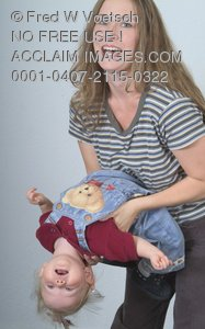 Stock Photo of a Mother Playing with Her Child