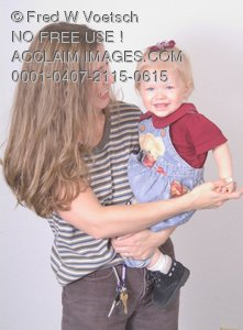 Stock Photo of a Mother Holding Her Child