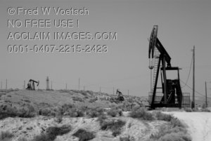 Stock Photo of Oil Wells