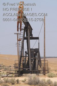 Stock Photo of an Oil Well Pump