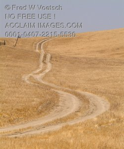 Stock Photo of a Country Road