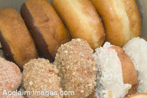 Stock Photo of Donuts In a Box