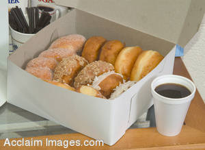 Stock Photo of Coffee and Donuts