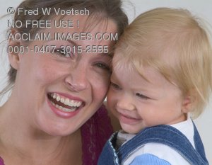 Stock Photo of a Mother and Daughter