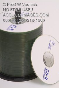 Stock Photo of Recordable CD