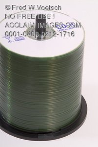 Stock Photo of a Spindle of Recordable CD