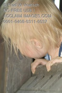 Stock Photo of a Blond Toddler