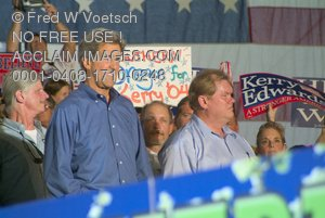 Stock Photo of Jim Rassmann and John Kerry At a Kerry-Edwards Rally
