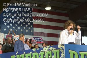 Stock Photo of Teresa Heinz-Kerry With John Kerry in Background
