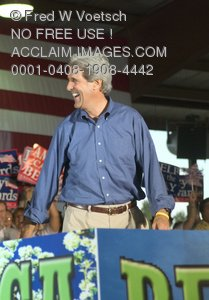Stock Photo of John Kerry Smiling and Laughing