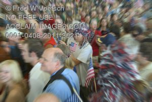 Stock Photograph of People at a Politcal Event