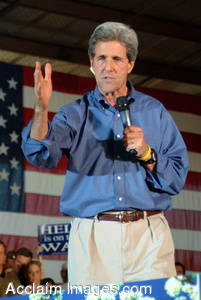 Stock Photo of John Kerry Giving his Campaign Speech