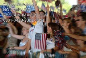 Clip Art of a Crowd At Political Event