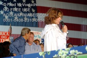 Stock Photo of Teresa Heinz-Kerry Making a Speech