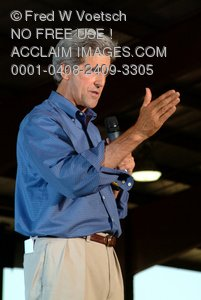 Stock Photo of John Kerry Campaigning