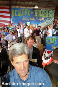 Stock Photo of John Kerry Campaigning for President