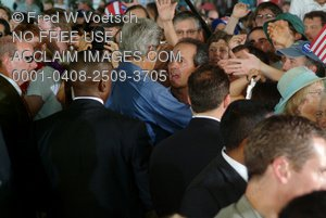 Stock Photography of John Kerry in a Crowd