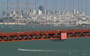 Stock Photo of the City of San Francisco and Golden Gate Bridge