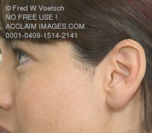 Stock Photo of the Side of a Woman