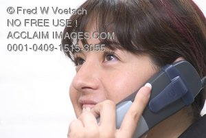 Stock Photo of a Woman Talking On a Phone