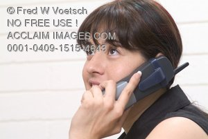 Stock Photo of a Girl on a Phone