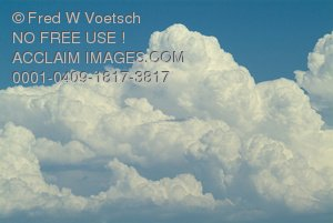 Stock Photo of Puffy, White Clouds