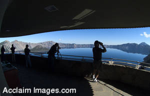 Wide Angle Stock Photography of Crater Lake