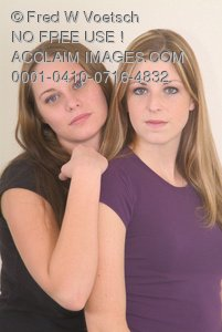 Clip Art Stock Photo of Two Friends