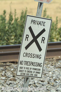 Stock Photo of a Railroad Crossing