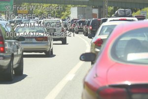 Clip Art Stock Photo of Freeway Traffic
