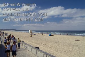 Clip Art Stock Photo of Pacific Beach