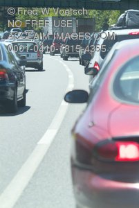 Clip Art Stock Photo of Traffic On a Highway