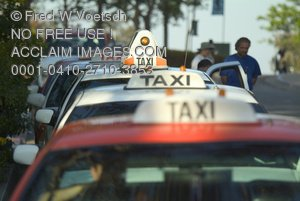 Clip Art Stock Photo of Taxis