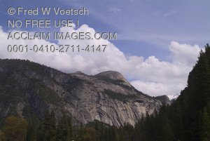Stock Photo Clip Art of Yosemite National Park - North Dome