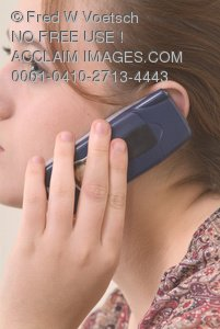 Young Woman On the Phone Clip Art Stock Photo