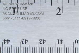 Clip Art Stock Photo of a Ruler - Inches and Centimeters