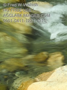 Clip Art Stock Photo of Rushing Water In a Stream