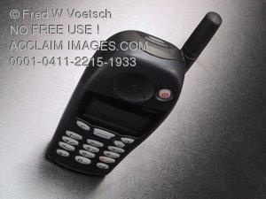 Cell Phone Business Image - Clip Art Stock Photo