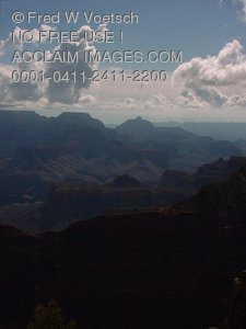 Clouds Over The Grand Canyon Stock Photography