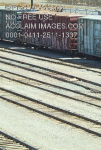 Freight Cars In a Rail Yard - Clip Art Stock Photo