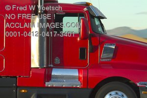 Red Truck Stock Photograph