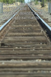 Railroad Tracks - Clip Art Stock Photo
