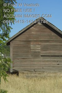 Clip Art Stock Photo of an Old Barn
