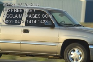 Clip Art Stock Photo of a Truck With a Crew Cab