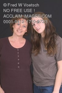 Clip Art Stock Photo of a Mother and Daughter